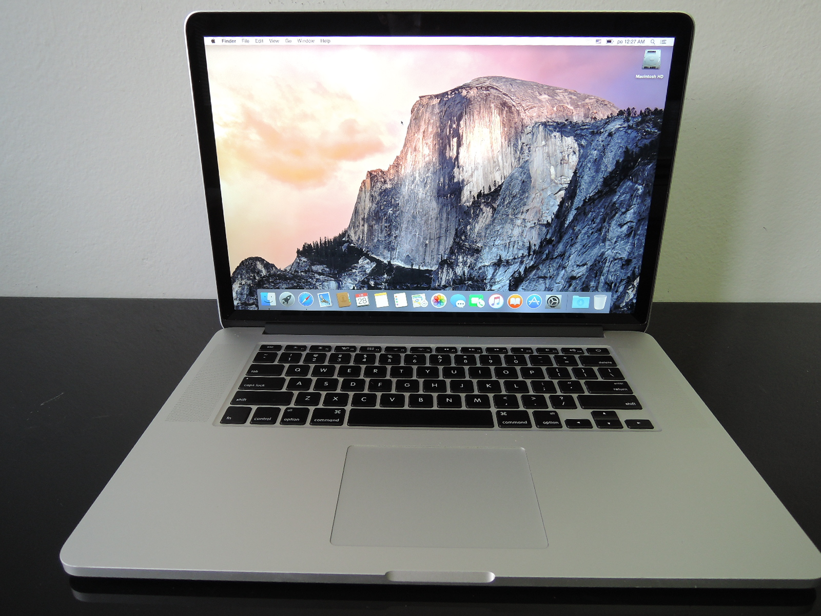 "MacBook PRO RETINA 15.4"" CTO/i7 2.7 GHz/16GB RAM/512GB SSD"