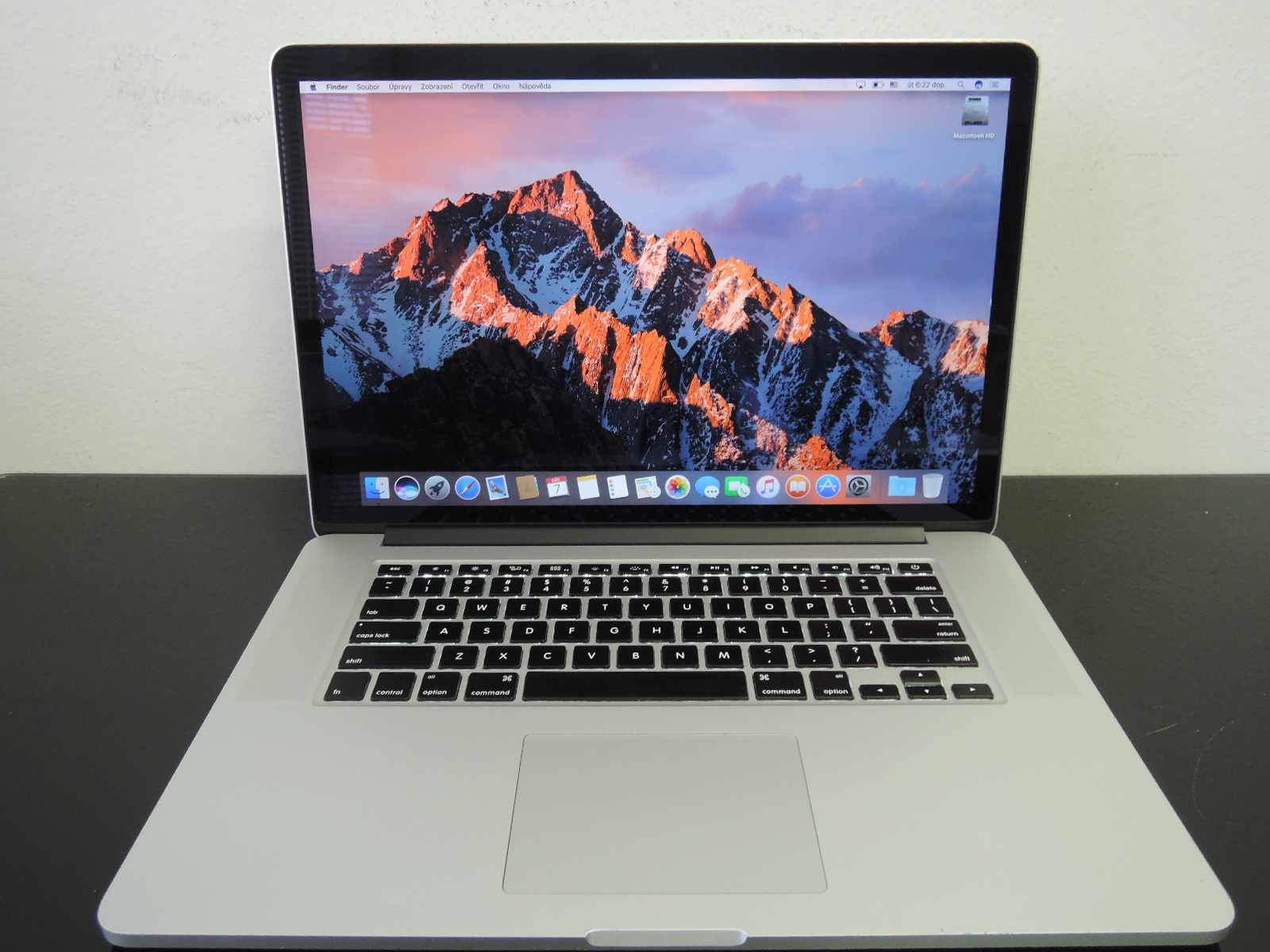 "MacBook PRO RETINA 15.4"" CTO/i7 2.8 GHz/16GB RAM/240GB SSD"